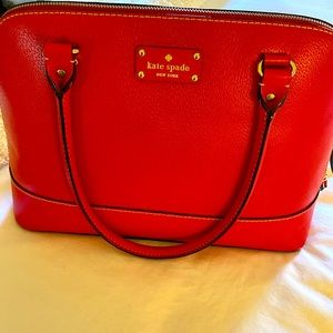 Kate Spade Leather Wellesley Red Rachelle Purse